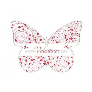HANGING CARDS BUTTERFLY VALENTINE 60-00709